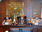 محافظ جنوب سيناء يستعرض أعمال متابعة المشروعات بالمحافظة