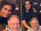 """هبة مجدى ومحمد محسن مع يحيى الفخرانى: """"عملنا مهرجان على الضيق فى البيت"""""""