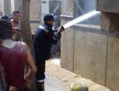 إخلاء 80 تلميذا والسيطرة على حريق معهد صقر قريش الأزهرى دون إصابات.. صور