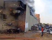السيطرة على حريق فى مخلفات بالقرب من قسم مرور بالمحلة