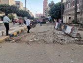 صور وفيديو.. فتح شارع الدلتا أمام كنيسة مار جرجس غرب مدينة كفر الشيخ