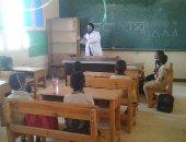 """""""صحة أسوان"""" تنظم ندوات توعية بالمدارس لوقاية الطلاب من كورونا.. صور"""