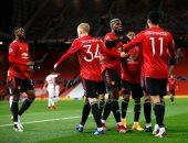 مانشستر يونايتد يتفوق على لايبزيج فى الشوط الأول بدورى الأبطال.. فيديو