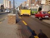 صور.. حملة لرفع تراكمات القمامة بشوارع المحلة فى الغربية