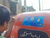 صور.. ملصقات للأجرة الموحدة وترقيم التوك توك بمدينة الفشن جنوب بنى سويف