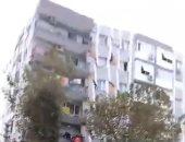 لحظة انهيار مبنى بمدينة إزمير أثناء وقوع زلزال تركيا.. فيديو