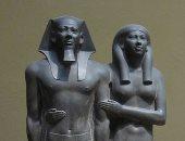 """100 منحوتة عالمية.. """"منقرع وزوجته"""" الحب على الطريقة المصرية القديمة"""
