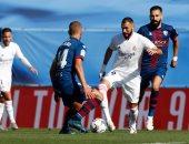 """ريال مدريد ضد هويسكا.. هازارد وبنزيما يتقدمان للملكي فى الشوط الأول """"فيديو"""""""