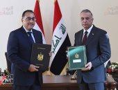 رئيس الوزراء: الحفاظ على الحقوق المائية لمصر والعراق أمن قومى عربى
