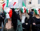 صور.. مظاهرات في إيطاليا احتجاجا على إجراءات الحد من انتشار كورونا