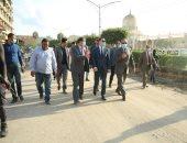 محافظ كفر الشيخ يتفقد أعمال توسعة الشوارع بطريق المحكمة