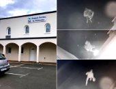 مجهول يحاول حرق مسجد فى فرنسا والشرطة تراجع كاميرات المراقبة.. فيديو وصور