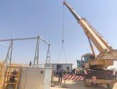 جارى استكمال أعمال إنشاء وتركيب محطة محولات الكهرباء العاجلة بغرب أسيوط