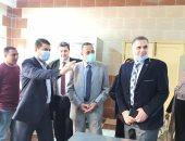 صور.. محافظ شمال سيناء يتفقد مدرسة العريش الفندقية