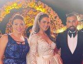يسرا والسقا وشيريهان أبو الحسن وأبو فى حفل زفاف درة بالجونة.. صور