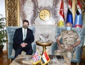 الفريق محمد فريد يبحث مع وزير الدولة للقوات المسلحة البريطانية عدة ملفات