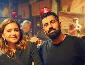 """محمد سامي يروج لـ""""العميل صفر"""" بصورة مع نيللى كريم"""