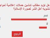 82% من القراء يؤيدون تدشين حملة إعلامية لمواجهة تشويه أهل الشر صورة الإسلام