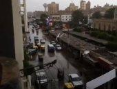 أمطار متوسطة ورياح شديدة على مدينة زفتى فى الغربية.. صور