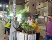 مبادرة شبابية لتجميل وتشجير مركز ملوى بمحافظة المنيا.. صور