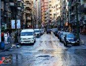 """استجابة لـ""""سيبها علينا"""".. رفع مياه الأمطار بمنطقة شارع الملعب بالإسكندرية"""