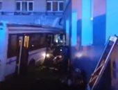 حادث مرورى بسبب تصادم سيارتين وآخرى نقل ثقيل بوصلة دهشور