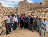 مصطفى وزيرى يختتم زيارته للأقصر ويعلن إنهاء 70% من مشروع ترميم كباش الكرنك