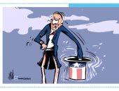ترقب وقلق فى انتظار الفائز بانتخابات الرئاسة الامريكية فى كاريكاتير أردنى