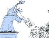 الاستقالات تهز الإدارة الأمريكية فى كاريكاتير عمانى