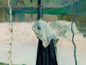 اعرف لغز لوحة البحيرة المقدسة للفنان الروسى نيستيروف قبل بيعها فى مزاد