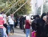طوابير الناخبين أمام اللجان الانتخابية فى المرحلة الثانية لانتخابات النواب