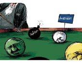 إيران تستخدم الطائفية لتأجيج الصراع بالشرق الأوسط فى كاريكاتير سعودى
