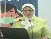 وزيرة الصحة تحذر من التواجد بأماكن مغلقة وتؤكد: الكمامة أحسن اختراع فى 2020.. فيديو