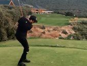 سعد لمجرد يكشف عن مهارته فى رياضة الجولف.. فيديو وصور