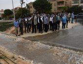 وزير الإسكان يشهد تجربة تجميع المياه بالجزر الوسطى بعد تخفيض منسوبها