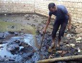 شكوى من سوء الصرف بقرية أبوجرج ببنى مزار فى المنيا.. ورئيس المدينة يرد