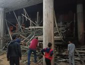 إصابة عاملين عقب سقوط سقالة صب مئذنة مسجد بالعاشر من رمضان