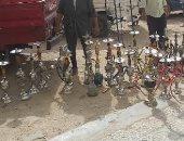 ضبط 4 مقاهى وكافتريات مخالفة ومصادرة 42 شيشة فى حملات بالشرقية