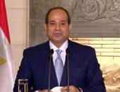 الرئيس السيسى يهنىء رئيس الجمهورية اللبنانية بيوم الاستقلال
