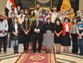 جامعة حلوان واللجنة الوطنية المصرية لليونسكو يبحثان دعم التوأمة بين مؤسسات التعليم العالى