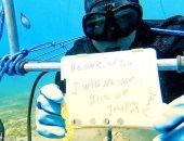 مصرى يقترب من دخول جينيس لأطول فترة غوص فى العالم.. فيديو وصور