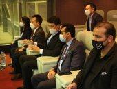 وزير الرياضة والسفير الكورى وعبد الله والعطار يحضرون مباراة المنتخب الأولمبى