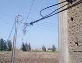 """الكهرباء ترفع كفاءة أسلاك """"ضغط عالى"""" متهالكة بقرية الخياط بكفر الشيخ.. صور"""