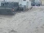 أمطار غزيرة وسيول فى مدينة السلوم غرب مرسى مطروح.. فيديو