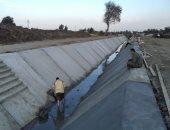 تبطين الترع بكفر الشيخ ضمن المرحلة الأولى لمشروع الحفاظ على المياه.. صور