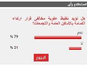 79% من القراء يؤيدون تغليظ عقوبة مخالفى ارتداء الكمامة بالأماكن العامة