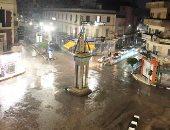 سقوط أمطار بمدن وقرى كفر الشيخ والمحافظ يعلن حالة الطوارئ.. صور