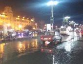 استمرار سقوط الأمطار الغزيرة على مدن ومراكز محافظة الغربية