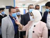 وزيرة الصحة تصل محافظة جنوب سيناء لتفقد عدد من المنشآت الطبية