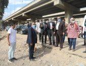 محافظ الجيزة يتفقد أعمال تنفيذ محور الأربعينى بديل شارع الهرم.. صور